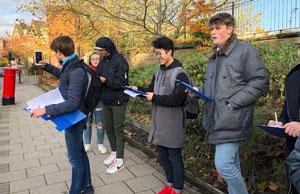 Students Near Post Box