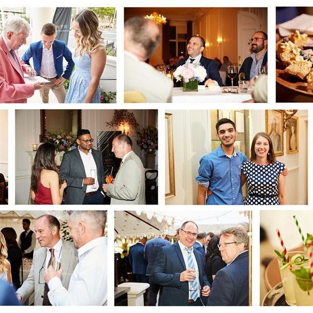 Collage of photos from MPW Alumni Network launch event