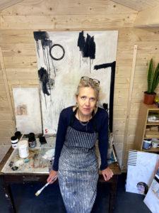 Kate Brett in Art Studio